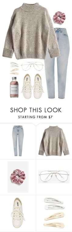 """""""- soft -"""" by lita-197 ❤ liked on Polyvore featuring Topshop, Express, Converse, Kitsch and French Girl"""