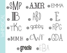 Monograms Made Easy: 72 Fonts & Frames - Damask Love