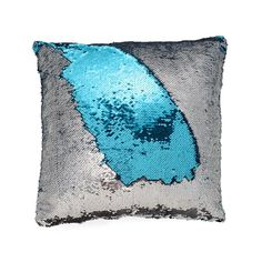 The Most Delightful and Fun Mermaid Decor! ~ Limited Edition Item ~ This sparkling pillow cover is made of a fabric thick with sequins that look like Mermaid Scales... Just run your hand along the top