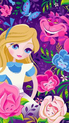 Alice and Cheshire by Jeff Granito Alice Liddell, Cute Disney, Disney Art, Disney Stuff, Ghibli, Dreamworks, Inspiration Artistique, Princess Alice, Disney Images