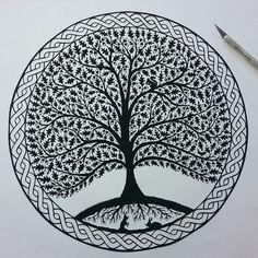 Bildresultat för chinese paper cuts tree