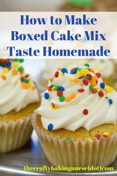 Make Boxed Cake Taste Like Bakery Cake - The Crafty Baking Nurse