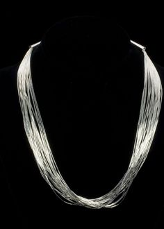 """Liquid Silver Eighteen Necklace Liquid sterling silver twenty strand necklace, 18"""""""" http://www.sterlingjewelrystores.com/product592.html"""