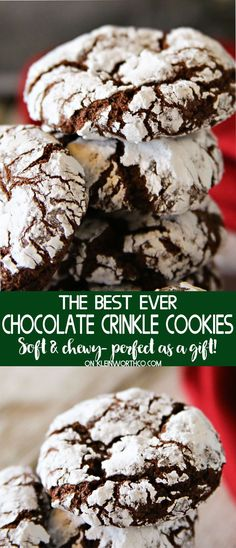 Easy Chocolate Crinkle Cookies are an easy & nostalgic Christmas cookie recipe that makes a great gift for neighbors, holiday parties & friends! Delish!