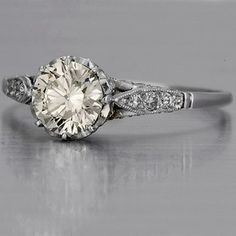 This is very pretty.  I like the ones with small stones around the solitaire and/or on the band...