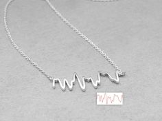 Actual Heartbeat Necklace Your by GracePersonalized