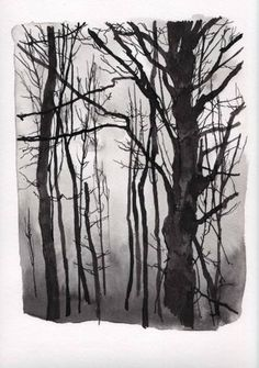 """Saatchi Art Artist Marion Costentin; Drawing, """"What about the trees #4 - SOLD"""" #art"""