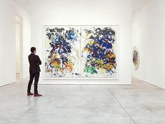 Joan Mitchell - River, 1989. Oil on canvas (diptych), 110 x 157 1/2 (279.4 x 400.1 cm). Collection of the Joan Mitchell Foundation, New York. © Estate of Joan Mitchell.