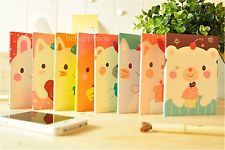 1pc Korean Creative Stationery Kawaii Cartoon Little Animal Notebook Diary Book