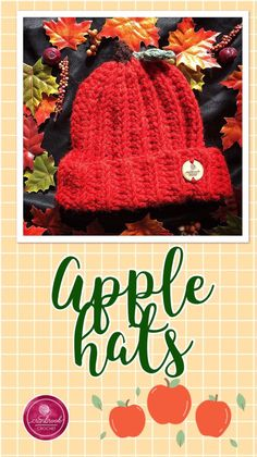 f051c5dd9cb80 Adult Medium Autumn Apple Hat Crochet Apple