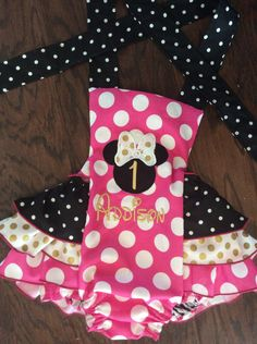 858bf56fd Minnie Mouse Birthday Outfit by BoogerbearPunkinpooh Minnie Mouse Birthday  Outfit, 1st Birthday Outfits, Birthday. Boogerbear Punkinpooh Kids Clothes