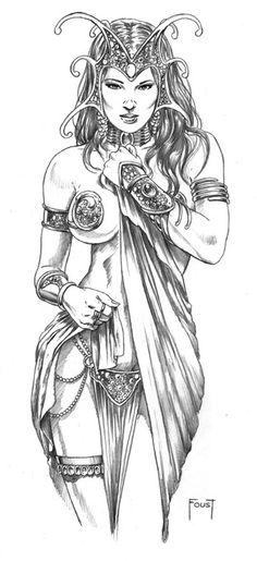 Dejah Thoris by Mitch Foust