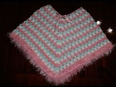 Easiest Crochet Poncho - baby - Adult sizes / Pancho en crochet - YouTube