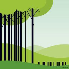Graphic art Woodpecker by Maria Zaikina