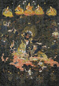 Palden Lhamo is a protecting Dharmapala of the Gelug school of Tibetan Buddhism. She is the wrathful deity considered to be the principal protectress of Tibet.