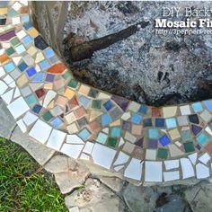 DIY Backyard Mosaic Firepit