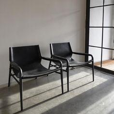 OX Denmarq Rama Chair Fåtölj i svart skinn