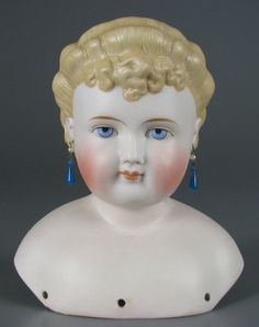 German bisque doll head by Alt, Beck & Gottschalk, 1860-1870.
