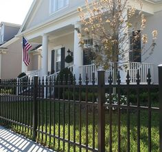 No matter what materials you choose wood, chain link, alum, vinyl, or wrought iron our traditional or contemporary styling and timely completion is sure to please!! Get the fence you have been wanting today! #luckyfence #fence #knoxville