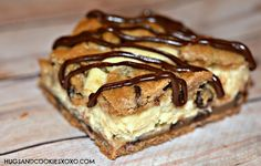CHOCOLATE CHIP BARS STUFFED WITH CHEESECAKE - Hugs and Cookies XOXO