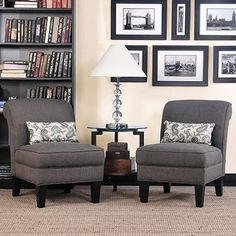 Carmon Fabric Accent Chair 2-pack Includes Two Accent Pillows, Minor Assembly