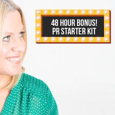 So I only went and added ANOTHER bonus to the academy. I know I'm too good.  For the next 48 Hours I'm offering Kerri Walker's PR Starter Kit (which sells for 250) as an EXTRA bonus.  The Starter Kit arms you with ready-to-use press material that will get you in front of the media.  It includes:  Press release templates ready to send to the press Pitch templates to contact the media Masterclasses on finding press contact details Email swipe files to journalists And much more!  For those of…