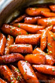 Honey Roasted Carrots (or candied carrots, as we like to call them) are a sweet, delicious, and healthy vegetable side dish. The easy to make carrots are coated in a honey glaze then roasted until tender and caramelized. They are totally addictive! Carrot Recipes, Vegetable Recipes, Whole Food Recipes, Healthy Recipes, Carrot Dishes, Cauliflower Recipes, Keto Side Dishes, Side Dishes Easy, Side Dish Recipes