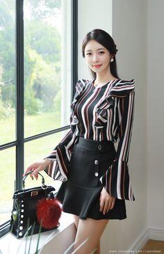 """Korean popular fashion brand """"Style On Mi"""" - AtzeC Oriental Fashion, Asian Fashion, Hijab Fashion, Fashion Dresses, Iranian Women Fashion, Womens Fashion, Work Fashion, Fashion Models, Beautiful Asian Women"""