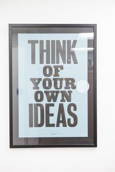 think of your ideas poster