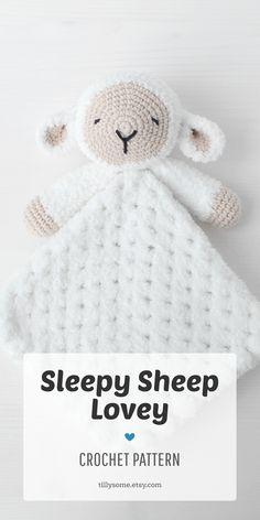 Crochet baby blanket 513762269994562654 - Source by ecsones Crochet Lovey Free Pattern, Crochet Sheep, Crochet Blanket Patterns, Baby Blanket Crochet, Crochet Animals, Baby Patterns, Free Crochet, Knit Crochet, Crochet Baby Stuff