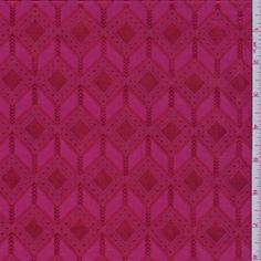 Berry Pink Satin Jacquard , might make a cool skirt.