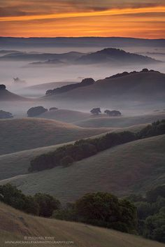 ~~Endless Layers | The hills of Northern Marin County, California with a little morning mist thrown in minutes before sunrise | by Michael Ryan~~