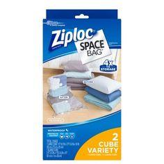 Ziploc (1 Large Cube, 1 XL Cube) Space Bag 2 count Cube C...