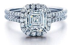 asscher  frosted stone