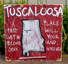 UNIVERSITY OF ALABAMA - Wooden Signs Wood Signs Hand Painted Shabby by simplysouthernsigns, $29.00