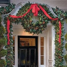 Pediment Christimas Garland and Wreath http://www.frontgate.com/holiday