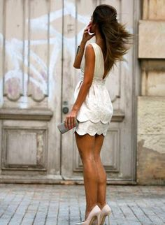 I want a white, casual, cute dress for graduation!