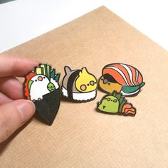 sosuperawesome: Birb Things Birbber on Etsy See our or… Jacket Pins, Cool Pins, Metal Pins, Pin And Patches, Up Girl, Pin Badges, Lapel Pins, Pin Collection, Cute Art