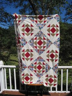 Enjoy!  Makes a twin size quilt.