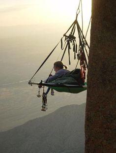 vertical camping.