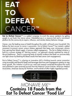 Healthy 4 Life with MonaVie: Eat to Defeat Cancer
