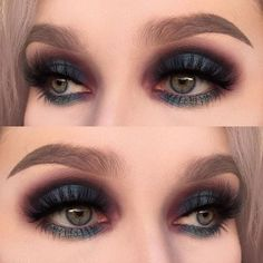 Recommended - Black Smokey Eye With A Pop Of Glitter #Fashion #Trend