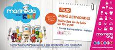 Y para los más pequeñ@s, el miércoles 16, Postres para quedarse… helado! (Espacio Marineda Chef Kids, 18h) #recetas #cocina #infantil #aprender