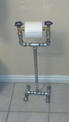 Tubos galvanizados con valvulas para hacer un dispensador de papel de water.