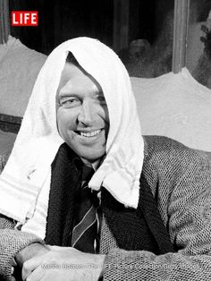 Jimmy Stewart on the set of 'It's a Wonderful Life' in 1946. See more photos