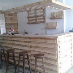 Como montar um barzinho em casa com paletes / madeira