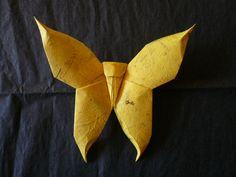 Mariposa Amarilla en Origami