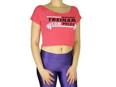 Blusas Femininas | Blusa Cropped Mulheres Modernas Treinam Com Pesos Coral  Acesse: http://www.spbolsas.com.br/atacado/ #Regatas #Femininas #Atacado