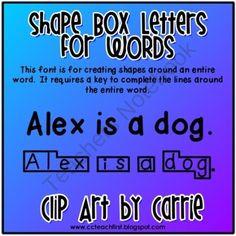 C  C Teach First Shape Boxes Fonts Bundle  Clip Art