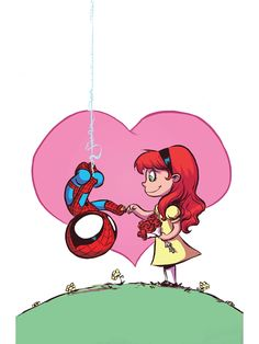 Spiderman & Mary-Jane - Skottie Young